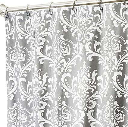 Amazon Shower Curtains For Bathroom Decor Damask Fabric