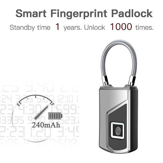 f3a814cc8e23 Amazon.com: certainPL Fingerprint Lock Smart Security Lock ...
