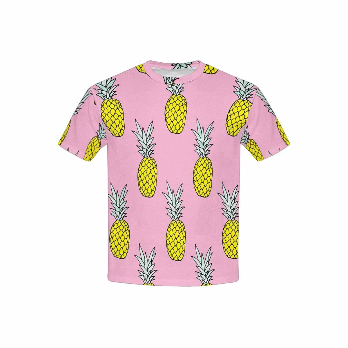 XS-XL INTERESTPRINT Kids T-Shirts Summer Pineapple Fruit