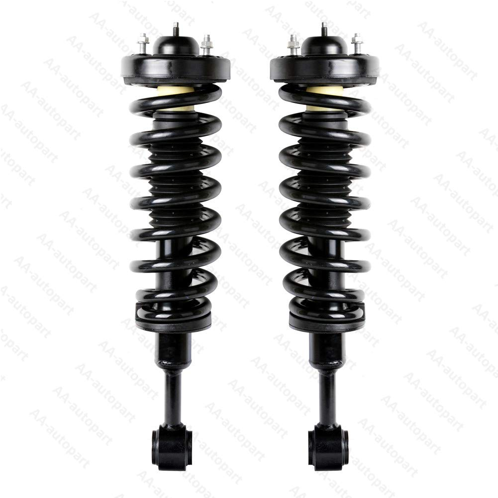 Ai CAR FUN 1 Pair 171361 Front Strut Shocks Absorber Complete Shock Struts and Coil Springs for 2004-2008 Ford F150 2006-2008 Mark LT 4WD