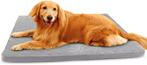 Large Dog Bed Mat Crate Pad Soft Pet Beds with Removable Cover Washable Anti Slip Pet Sleeping Mattress for Travel
