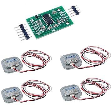4pcs 50 Kg báscula Sensor de ponderación célula de carga de tensión half-bridge + 1pcs HX711 Módulo ad peso geekstory: Amazon.es: Hogar