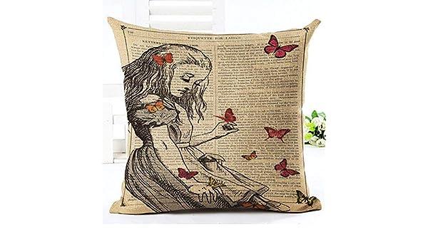 Amazon.com: Cotton Linen Literary Newspaper Illustration ...
