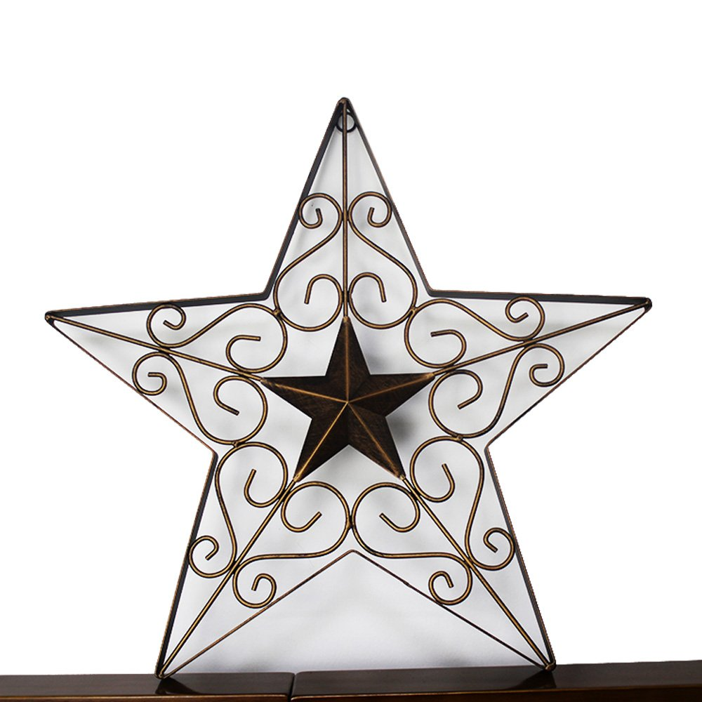 Texas Metal Barn Star Western Wall Décor Vintage Rustic Handmade Home Decoration 1836 Lone State
