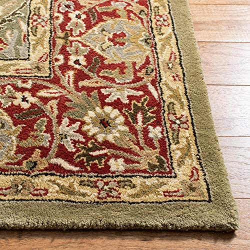 Safavieh Persian Legend Collection PL819B Handmade Traditional Light Green and Rust Wool Area Rug 2' x 3'