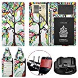 XeYOU Passport Holder Travel Wallet Vegan Leather Passport Case Cover Air Ticket Holder (Love Tree)