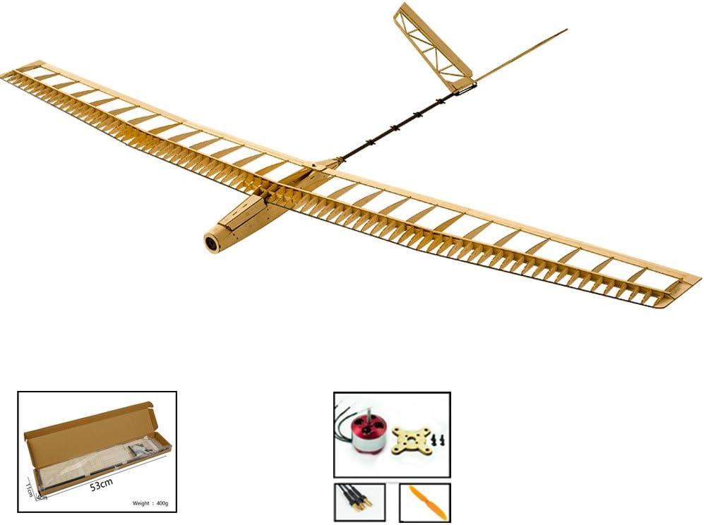 Dancing Wings Hobby RC - Guías de avión, eléctricas, para Aviones, Modelo Uzi, 1,4 m, Corte láser, Modelo de Madera de balsa, Kits de Aviones para Principiantes
