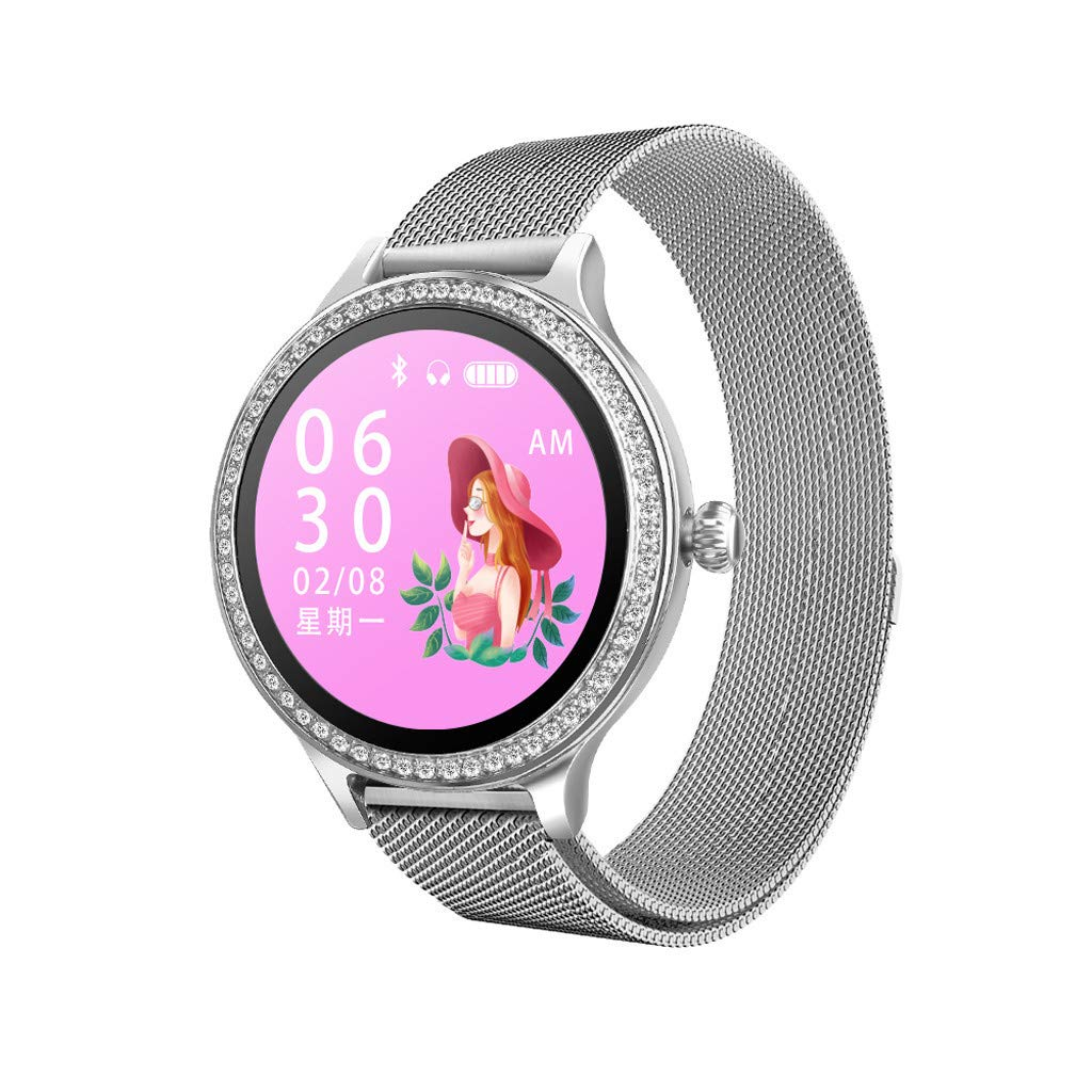 CZYCO Female-Only Luxury Leather Strap M8 Smart Watch Women Heart Rate Monitor Blood Pressure Electric Reminder Watch (B) by CZYCO