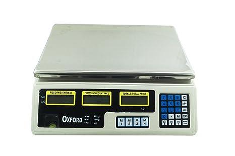 Báscula electrónica 40 kg Profesional Digital para Pesar Frutas Verduras Pesa
