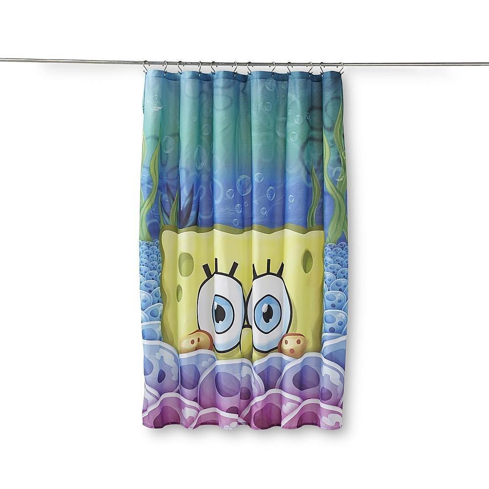 Amazon.com: Spongebob Fabric Shower Curtain: Home & Kitchen