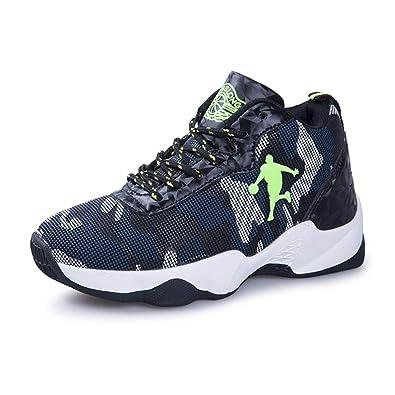 DAYATA C8021 - Zapatillas de Baloncesto de Piel Sintética para niño