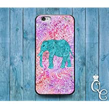 *BoutiqueHouse* iPhone 4 4s 5 5s 5c SE 6 6s plus iPod Touch 4th 5th 6th Generation Cute Animal Cover Cool Pink Purple Teal Green Elephant Pretty Phone Case(iPhone 4/4s)