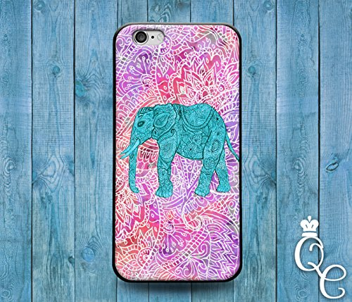 Price comparison product image *BoutiqueHouse* iPhone 4 4s 5 5s 5c SE 6 6s plus iPod Touch 4th 5th 6th Generation Cute Animal Cover Cool Pink Purple Teal Green Elephant Pretty Phone Case(iPhone 5c)