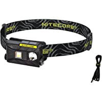 Nitecore NU25 360 Lumen Triple Output - White, Red, High CRI - 0.99 Ounce Lightweight USB Rechargeable Headlamp with LumenTac Adapter