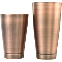 Barfly M37009ACP Cocktail Shaker, Set (18 oz and 28 oz), Antique Copper