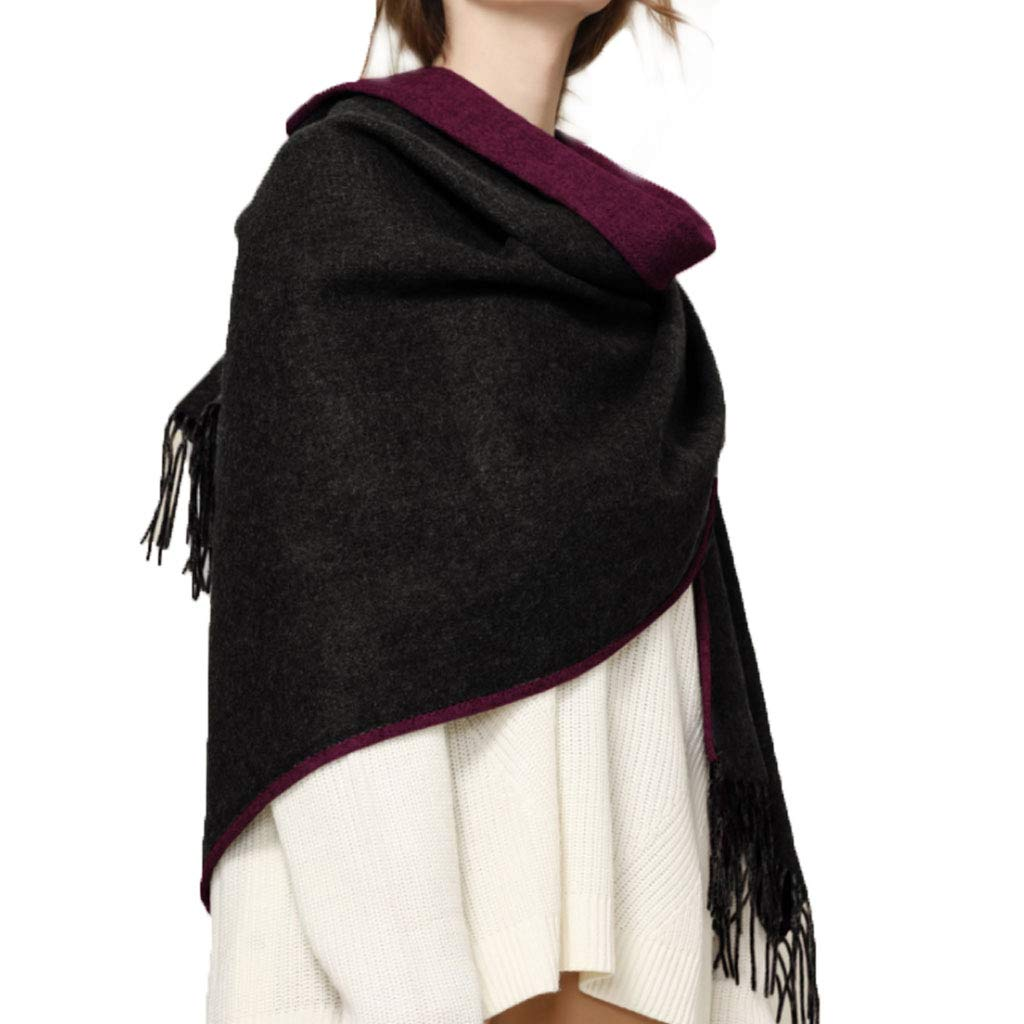 Shawl Woman,DoubleSided Lamb Cashmere Keep Warm,C