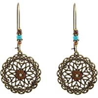 HENGSONG 1 Pair Stud Earrings Alloy Lovely Cute Jewelry Gifts Charms Hollow Round Shape Flower