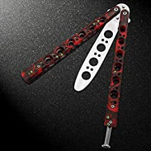 RED BALISONG Practice Training Knife Trainer w/Nylong Sheath US FAST