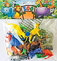 Miniatura Colecionável Zoológico Completo com 28 Peças Blister Brasilflex