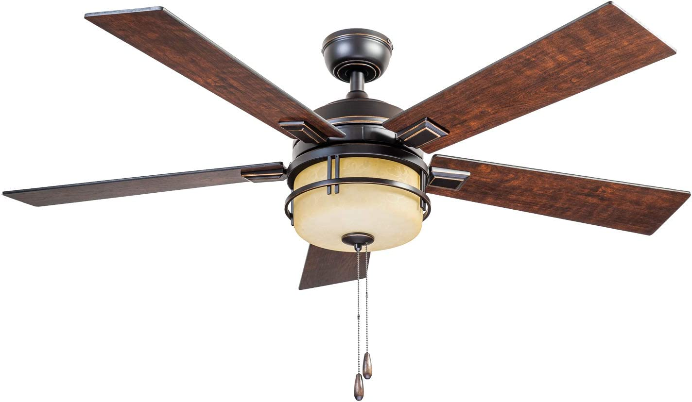 Prominence Home 80136-01 Zinnia Ceiling Fan, 52, Oil Rubbed Bronze