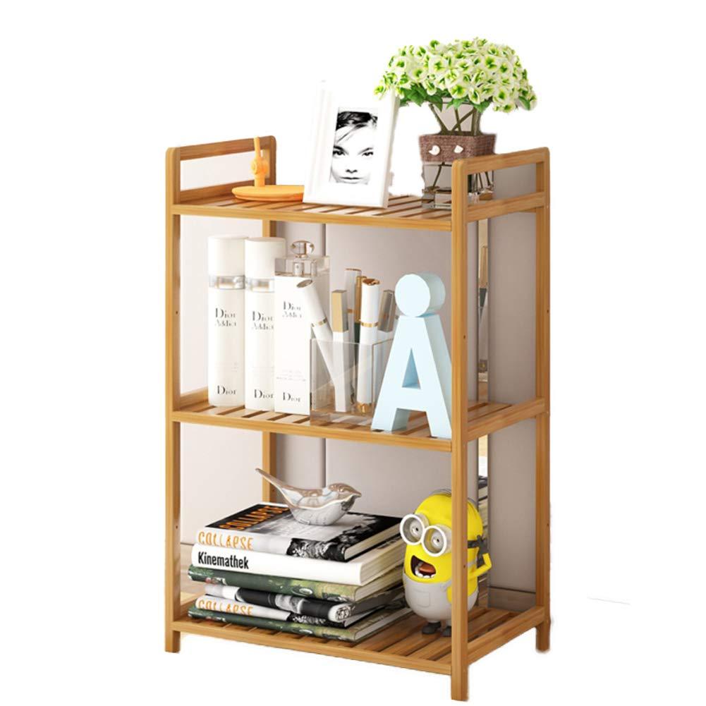 A 70x35x27cm(28x14x11inch) Small Bamboo Bookshelf,6-Tier Multipurpose Shelf Display Rack Thickened Storage Rack Floor-Standing Open Shelf for Records & Books-I 130x68x37cm(51x27x15inch)
