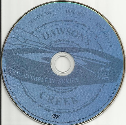 Dawson's Creek the Complete Series Disc 1 Containing Season 1 Episodes 1-4 Replacement Disc!