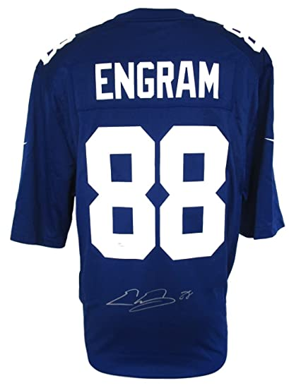 watch 53627 90e1d Evan Engram Signed New York Giants Blue Game Jersey JSA at ...
