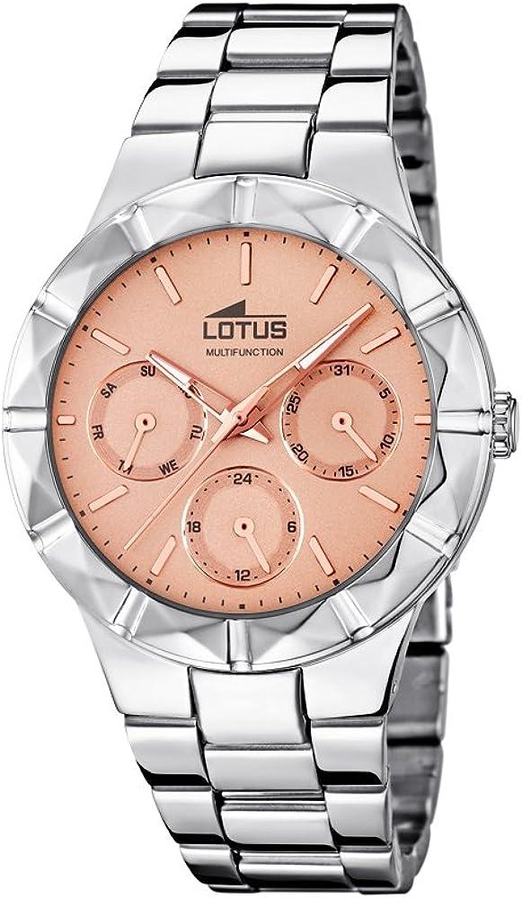2a3845d0d591 Lotus 0 - Reloj de Cuarzo para Mujer, con Correa de Acero Inoxidable ...