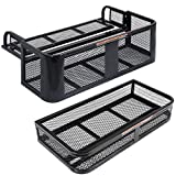 Goplus Universal ATV Front Cargo Basket and Rear Drop Rack Set Luggage Carrier Steel Mesh Surface