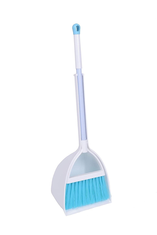 Qidiwin Mini Broom&Dustpan, Home&Kitchen Sweeping for Kids(White+Blue)