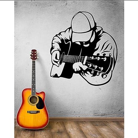 hllhpc Tatuajes De Pared Músico Guitarra Guitarrista Instrumento ...
