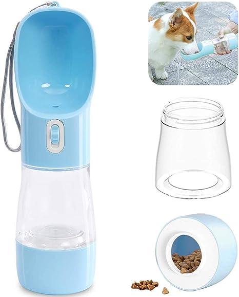 KUOZEN Dog Drinking Bottles Water Bottle For Dog Dog Water Bottle With Bowl Dog Drinking Bottle Portable Dog Travel Accessories blue