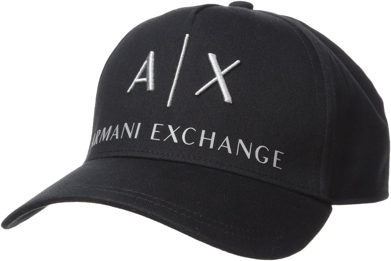 AX Armani Exchange Men's Logo Hat, Black, One Size