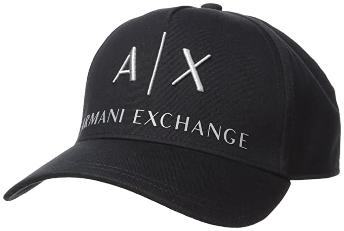 4a524dea Armani Exchange Men's Logo Baseball Hat Cap, Black (Nero 00020), One ...