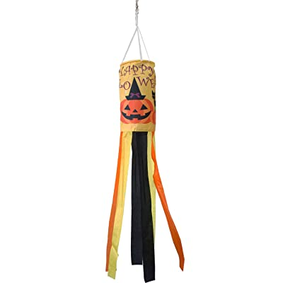PINCHUANG 40 Inch Halloween Pumpkin Windsock Flag, Halloween Windsock Outdoor Hanging Decoration for Front Yard Patio Lawn Garden Party Decor (Halloween Cat Windsock) : Garden & Outdoor