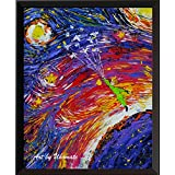 Uhomate The Little Prince Le Petit Prince Little Prince Vincent Van Gogh Starry Night Posters Home Canvas Wall Art Anniversary Gifts Baby Gift Nursery Decor Living Room Wall Decor A022 (5X7)