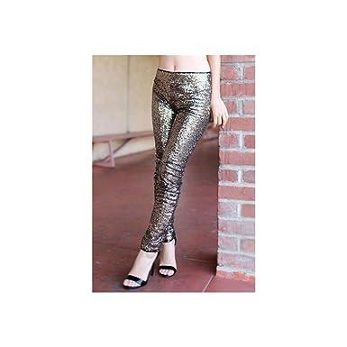 9d1c6dde184 Image Unavailable. Image not available for. Color  Black Magic Gold Sequin  Pants