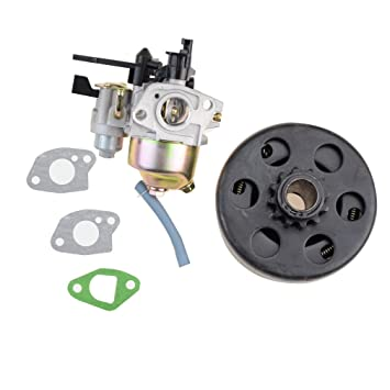 GOOFIT Carburador 19 Dellorto Minimoto con Embrague con Membrana Quad para Desbrozadora Motocross 2 Tiempos GX160