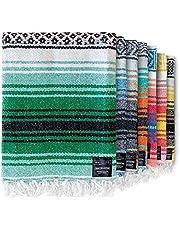 Mexican Blanket Falsa Blanket   Authentic Hand Woven Blanket, Serape, Yoga Blanket   Perfect Beach Blanket, Navajo Blanket, Camping Blanket, Picnic Blanket, Saddle Blanket, Car Blanket