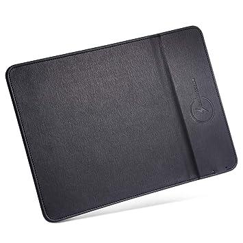 Bellatio Cargador inalambrico Xiaomi Mi Mix 2S Carga rapida Alfombrilla Raton en Piel Cargador inalambrico rapido Xiaomi Mi Mix 2S Mouse Pad Wireless ...