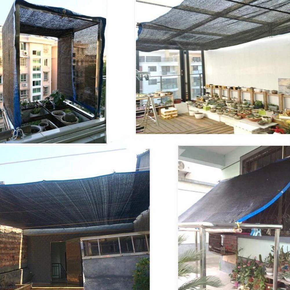 Color : Black, Size : 2x2M Garten liefert Ljdgr GRW-Plane Sonnenschutznetz Sonnenschutz Polyethylen Endotherm Atmungsaktiv Faltbarer Patio Anpassbare Gr/ö/ße Farbe: SCHWARZ, Gr/ö/ße: 6x7m