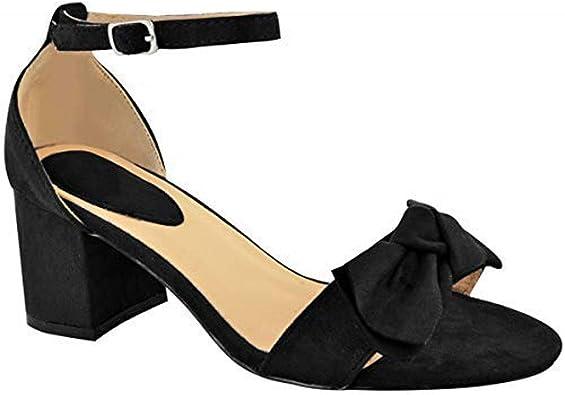 Femmes noir à lanières soirée chaussures soirée sandales mariage chaussures à nouveau
