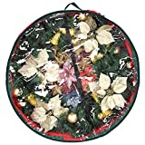 """Primode Wreath Storage Bag with Clear Window 