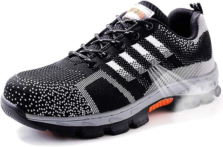 Nuovo Scarpe Antinfortunistica Traspirante con Punta in Acciaio, Sneaker da Lavoro Cantiere per Uomo Donna, Antinfortunistiche di Sicurezza