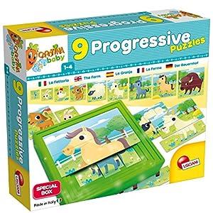 Lisciani Giochi 58440 Carotina Baby Progressive Puzzle The Farm