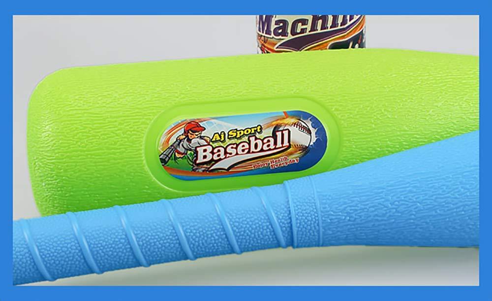 1 Blue Bat 3 Balls Littlefun 2-in-1 T-Ball Set Automatic Launcher Baseball Bat Toys Indoor Outdoor Sports Baseball Games for Kids