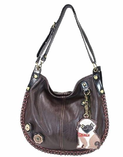 Chala Purse Handbag Leather /& Canvas Carryall Tote Bag Puppy Dog