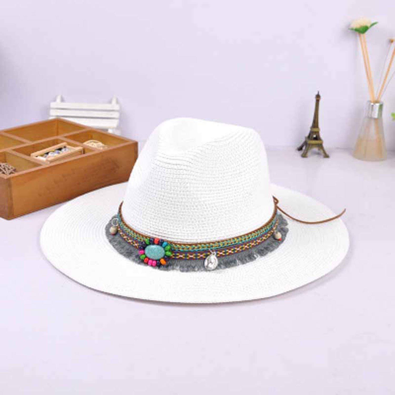 Womens Jazz Caps Hats with Wide Birm Women Straw Vintage Hat Floppy Sun Beach Church