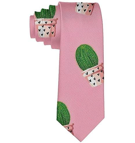Mens Lovely Cactus Necktie Tie Corbata de seda Corbatas Corbatas ...