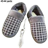 getherad Zapatillas con Calefacción USB, Zapatillas De Calefacción